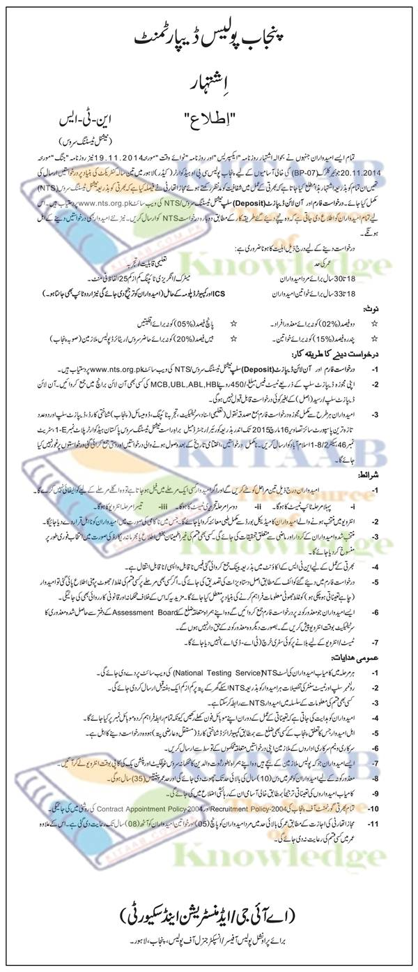 Punjab police junior clerk bp 7 jobs 2015 nts test phase i ii punjab police junior clerk bp 7 jobs 2015 nts test phase i ii eligibility criteria procedure selected candidates falaconquin