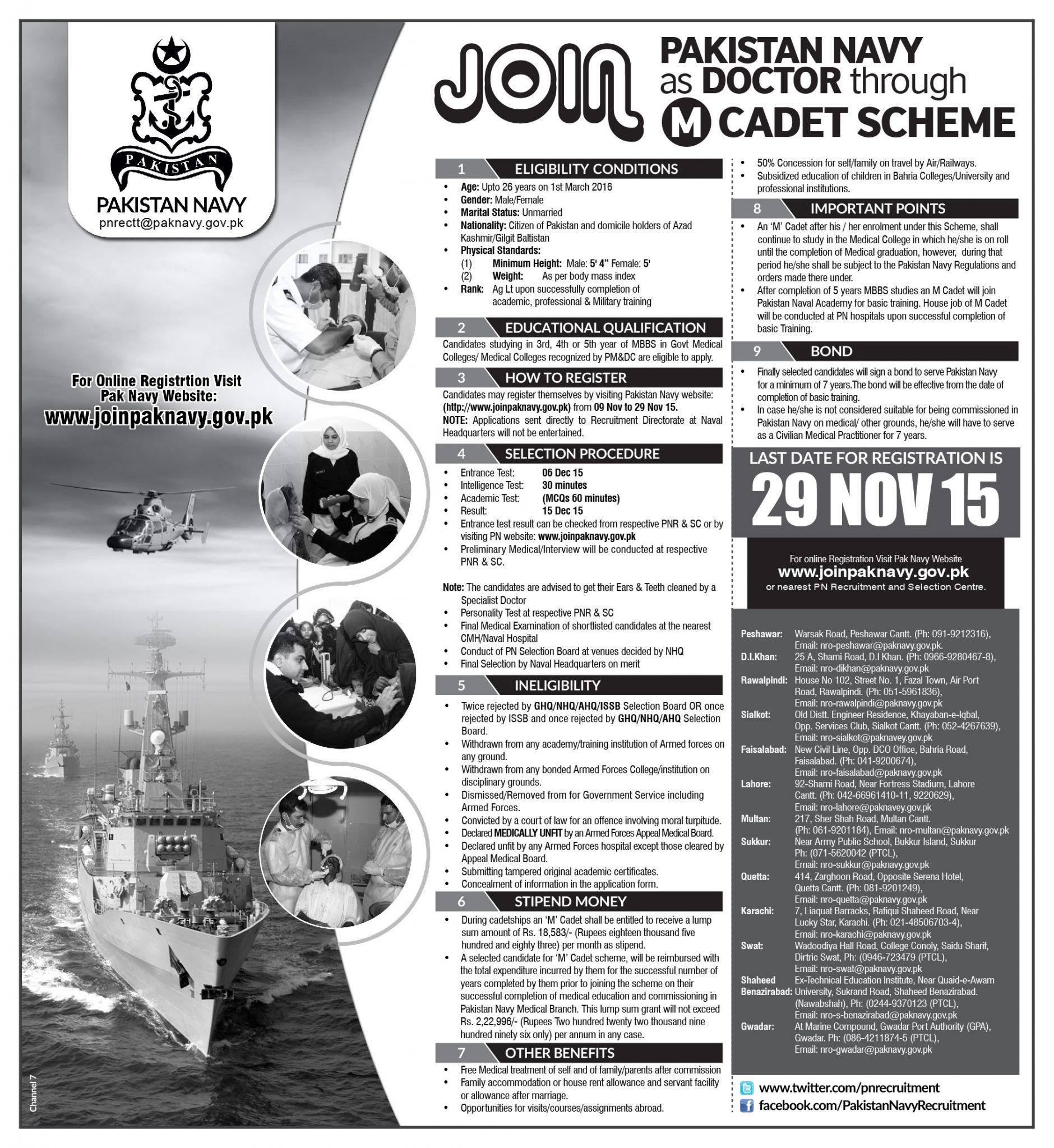Join Pak Navy As a Doctor 2017 Scheme Online Registration ...