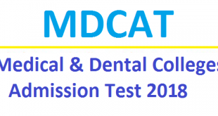 MDCAT Entry Test 2021 Date and Schedule Application Form Download