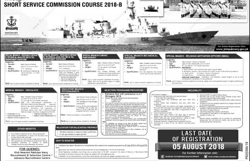 Join Pakistan Navy PN Short Service Course SSC 2021 Registration Online
