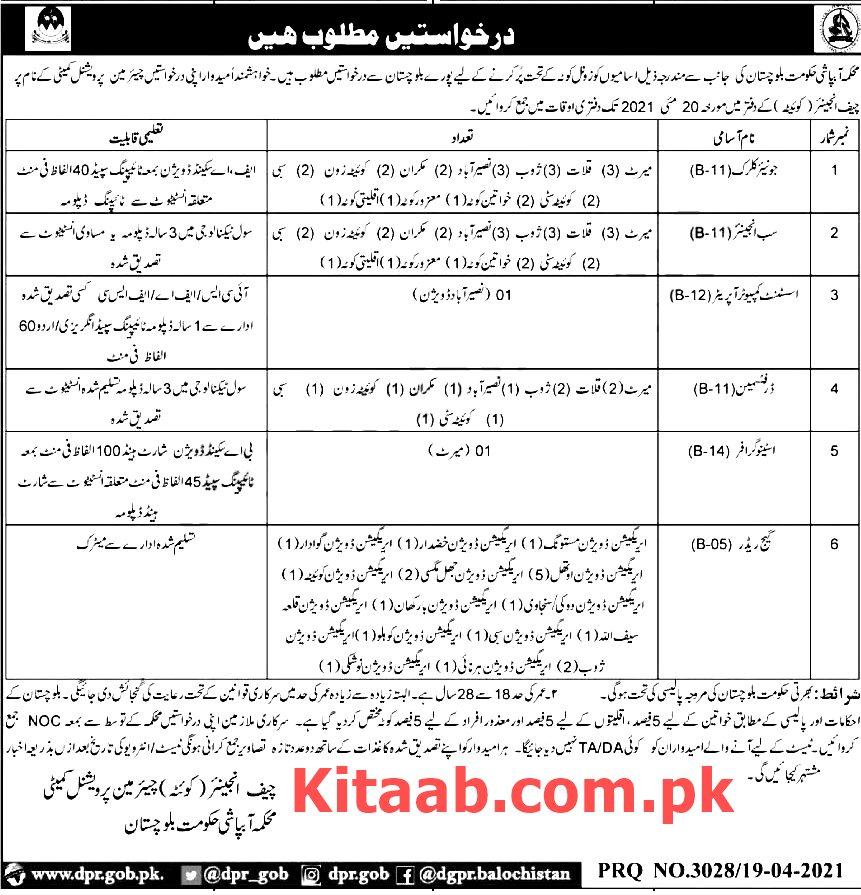 Balochistan Jobs 2021 Irrigation Department Qualification Criteria Information