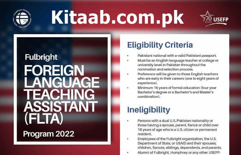 Fulbright Foreign Language Teaching Assistant FLTA program 2022 Online Apply Eligibility Criteria