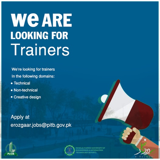 PITB E-Rozgaar Trainer Jobs 2021 Online Apply Last Date Eligibility Criteria